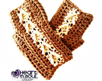 PATTERN Open Arrow Fingerless Gloves PATTERN