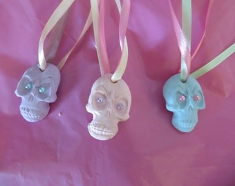 Candy skulls decoration, Halloween, hanging ornaments