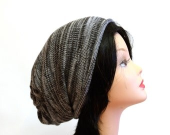 Black Grey White hat Slouchy Beanie Womens Knitted Hat mens knit hat casual accessories Slouchy Hat stylish trendy