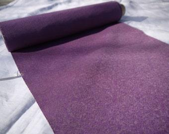 Natural dyed gromwell silk Kimono (Obi belt) rice pasete resisted Katazome dyeingfabric