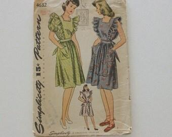 Simplicity 4632 · Sz 14, bust 32 · Womens 1940s Pattern