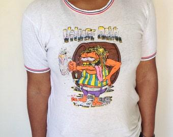 70's Rat Fink Village Drunk Threadbare  Ringer  T- Shirt