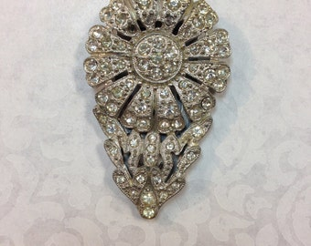 Rhinestone Flower Shoe/Dress Clip c.1930's