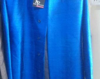 Royal Blue Pure Rawsilk Sherwani Coat For Any Occasion