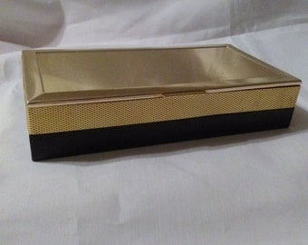 Jewelry box art deco jewelry box black and gold jewelry box