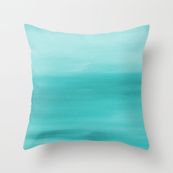 Throw Pillow Covers Teal : Teal Throw Pillow Cover Decorative Pillow Cushion Cover