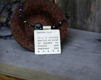 Wanderlust Dictionary Necklace