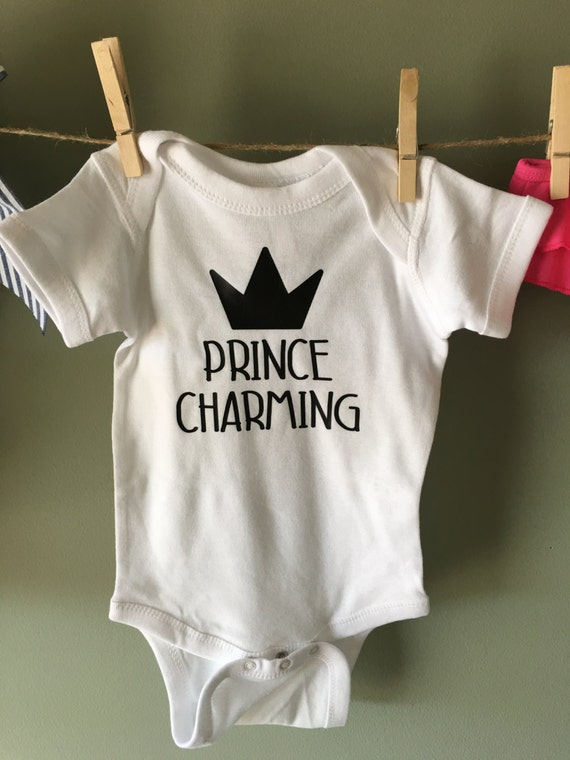 items similar to prince charming onesie baby boy