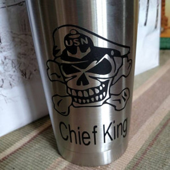navy chief, US Navy Chief Decal,  Sticker,  yeti decal, custom yeti decal, chief decal, navy decal, 30 oz decal, 20 oz decal