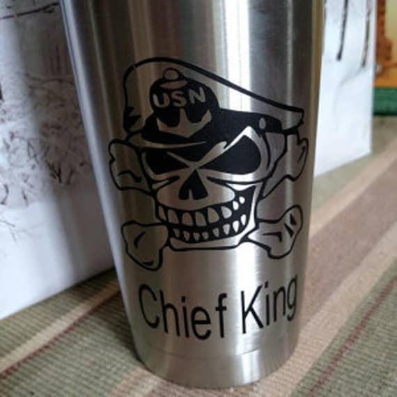 navy chief, US Navy Chief Decal,  Sticker,  yeti decal, custom yeti decal, chief decal, navy decal, 30 oz decal, 20 oz decal