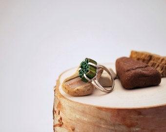 Wooden Gem Ring