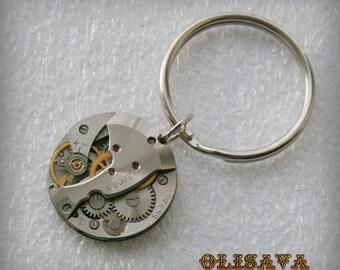 Watch Movement  Steampunk   Keyring, Steampunk   Keychain