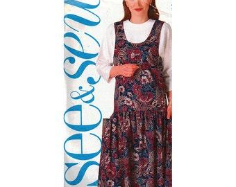 Butterick Sewing Pattern 5027 Misses' / Misses' Petite Jumper, Top  Size:  B  12-14-16  Uncut