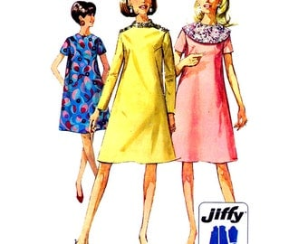 Simplicity Sewing Pattern 7339 Misses' Dress with detachable Collar  Size:  10  Used