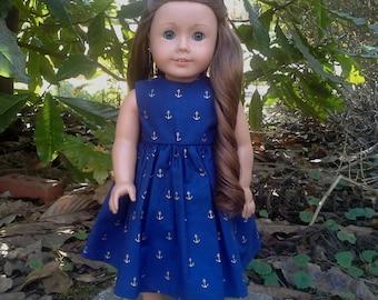 18 inch doll anchor dress