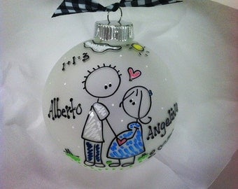 EXPECTING Baby Ornament, Pregnancy, New Mom, Parents, Christmas