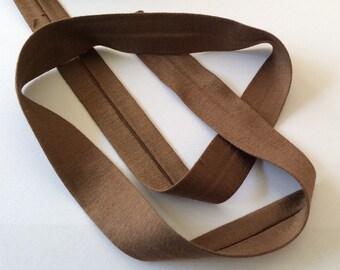 Jersey-bias binding light brown