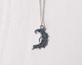 Crescent Moon Necklace | Celestial Necklace | Crescent Moon Jewelry | Moon Pendant | Gift
