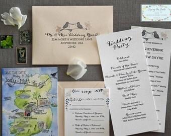 Watercolor Wedding Suite - Ireland Wedding Suite - Gregans Castle Hotel - County Clare - Ballyvaughan - Irish Manor Wedding