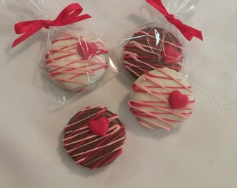 Valentine Chocolate Covered Oreos