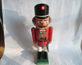 Nutcrackers, Antique Nutcracker - Very Rare Soldier Nutcracker - with a Sword - One of a Collection of Three - 13  Inches High, FREE SHIP