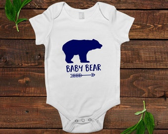baby bear shirt - blue baby boy gift - one piece outfit