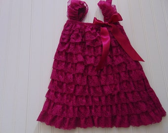 Plum Lace Petti Dress