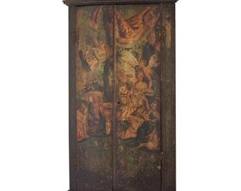 Georgian Painted Corner Cupboard