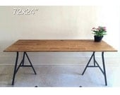 72x24 Desk, Narrow Dining Table, Long Dining Table, Large Wood Desk, Long Desk on Ikea Legs.
