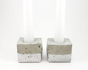 Square Concrete Candle Holders