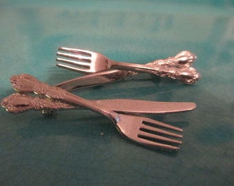 Knife and fork Pins (2)