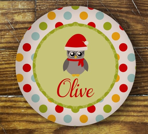 Personalized Dinner Plate or Bowl - Olive