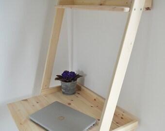 Modern, Hand Made, Desk, Pine Wood, Computer, Home, Office, Furniture