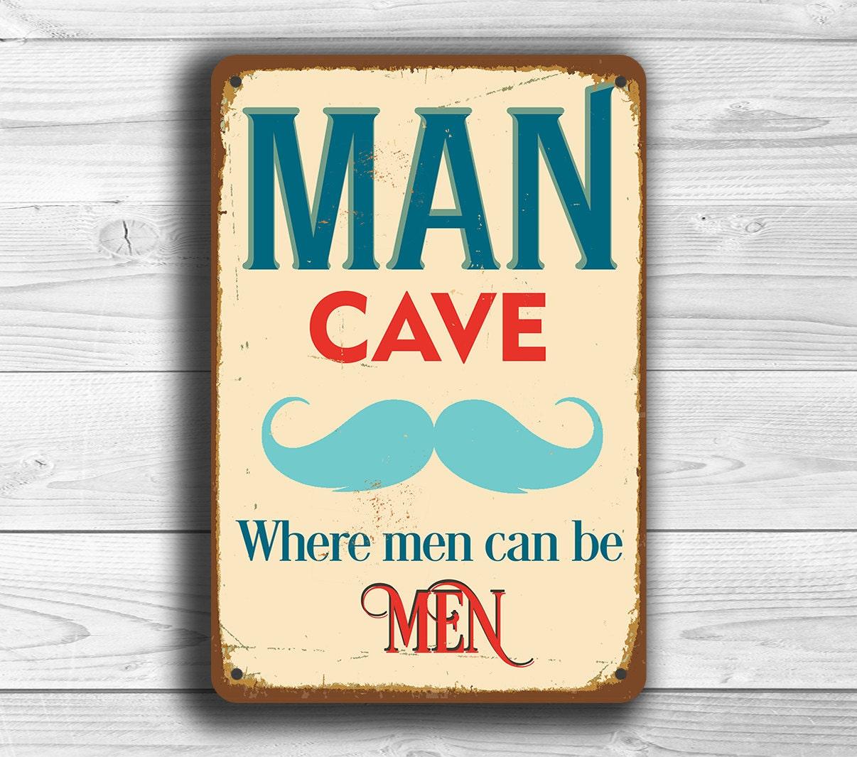man cave sign man cave signs vintage style man cave sign. Black Bedroom Furniture Sets. Home Design Ideas