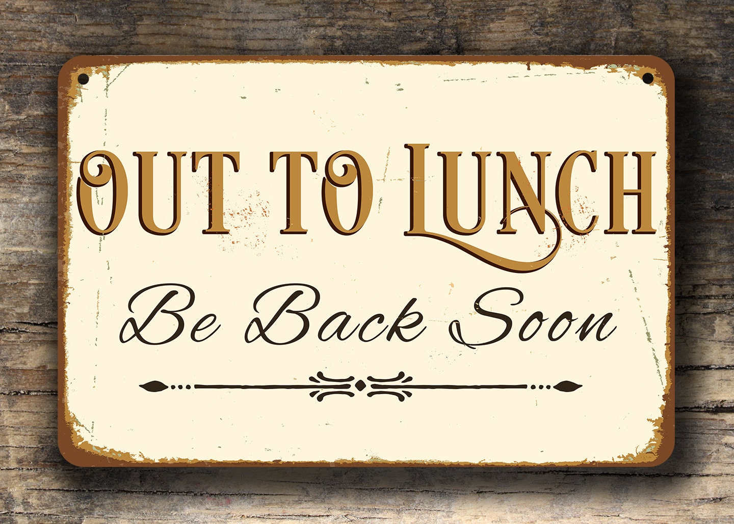 Out To Lunch Sign Out To Lunch Signs Business Sign Shop