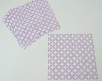 "Purple Geometric Circle Washi Paper Japanese Chiyogami Origami Scrapbooking Craft Paper 5.9"" x 5.9"""