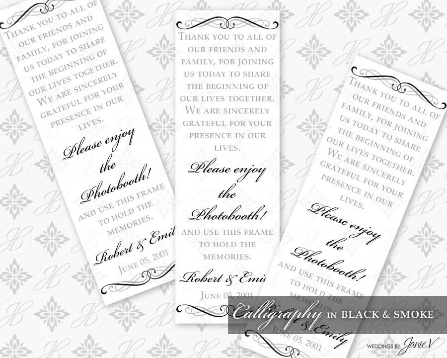 Diy Printable Wedding Photo Booth Frame Template Printable