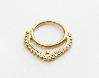 3rd Item Free! Large Septum Ring, 16g Septum Piercing, Solid 14k Gold Septum Jewelry, Nose Ring, Gold Nose Ring, Nose Bling, Yellow Gold