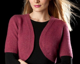 Cashmere fine bolero with metallic