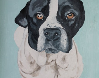 "Single pet portrait 14"" x 18"""