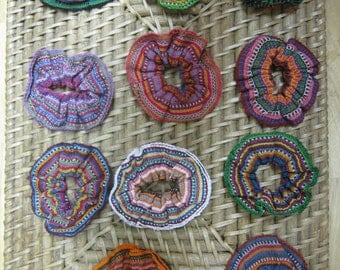 Any 2 Woven Cotton Multicolor Guatemalan Hair Scrunchies