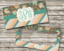 Monogram License Plate and Frame, Personalized for Teenage Girls, , Monogram Car Tag (0008)