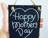 Mothers Day gift, Gift tag, chalkboard tag, gift for Mom, small chalkboard gift tag, blackboard tag, gift tags, favor tags, Mothers Day sign