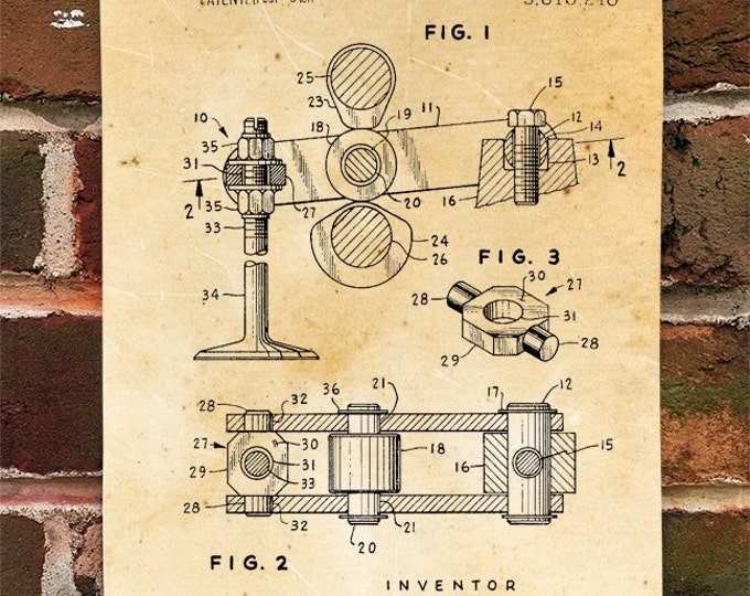 KillerBeeMoto: Duplicate of Original U.S. Patent Drawing For Desmodromic Valve System