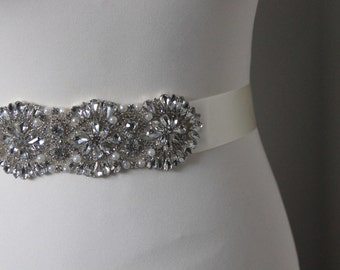 Natalia bridal belt/sash