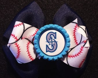 Seattle Mariners hair bow