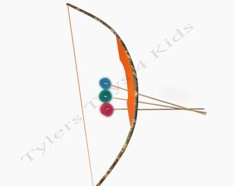 Digital Camouflage PVC Bow and Arrow Set, 1 bow 3 arrows