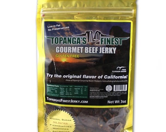 Homemade Gourmet, Gluten Free Beef Jerky, Healthy, with a  Pepper Kick!
