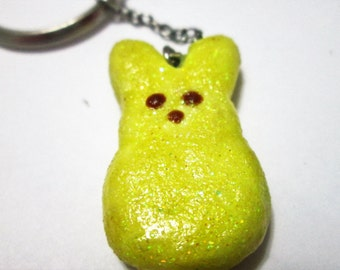 Easter marshmallow peep polymer clay charms