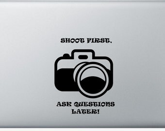 Shoot First- Camera Decal 5""